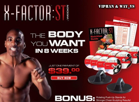 Weider X-Factor ST - The Body You Want in 8 Weeks: 12 DVD and Manual Set