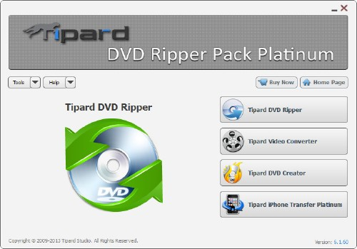 Tipard DVD Ripper Pack Platinum 6.1.60 Portable