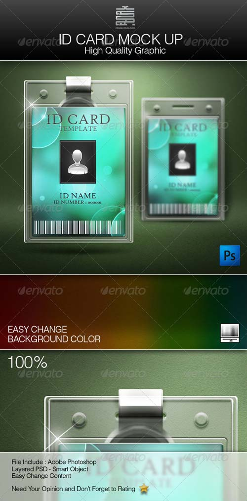 GraphicRiver ID Card Mock up
