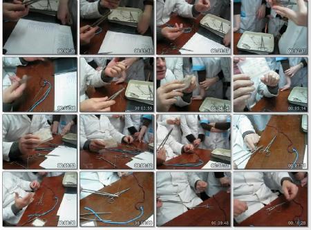 Вязание хирургического узла иглодержателем (2012) DVDRip